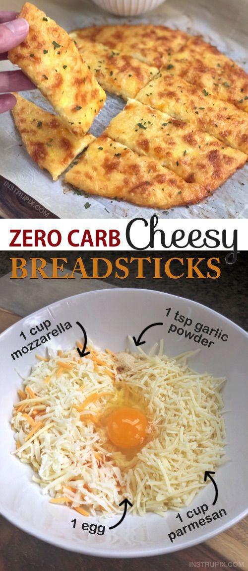 KETO Cheesy Garlic Bread - Just 4 ingredients! #nocarbdiets