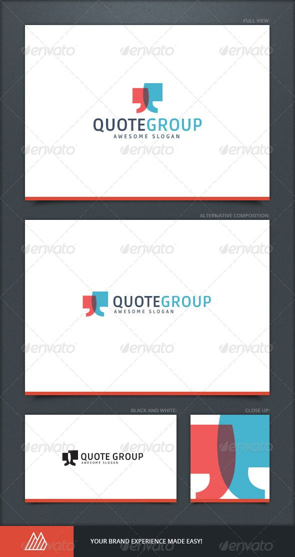 Quote Group Logo Template Logos, Template and Custom logos - graphic design quote template