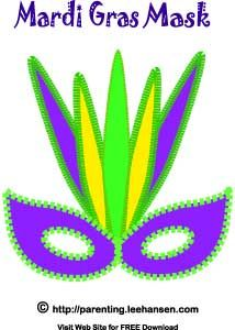 Free Mardi Gras | Mardi Gras Tribal Mask Template | kostumer