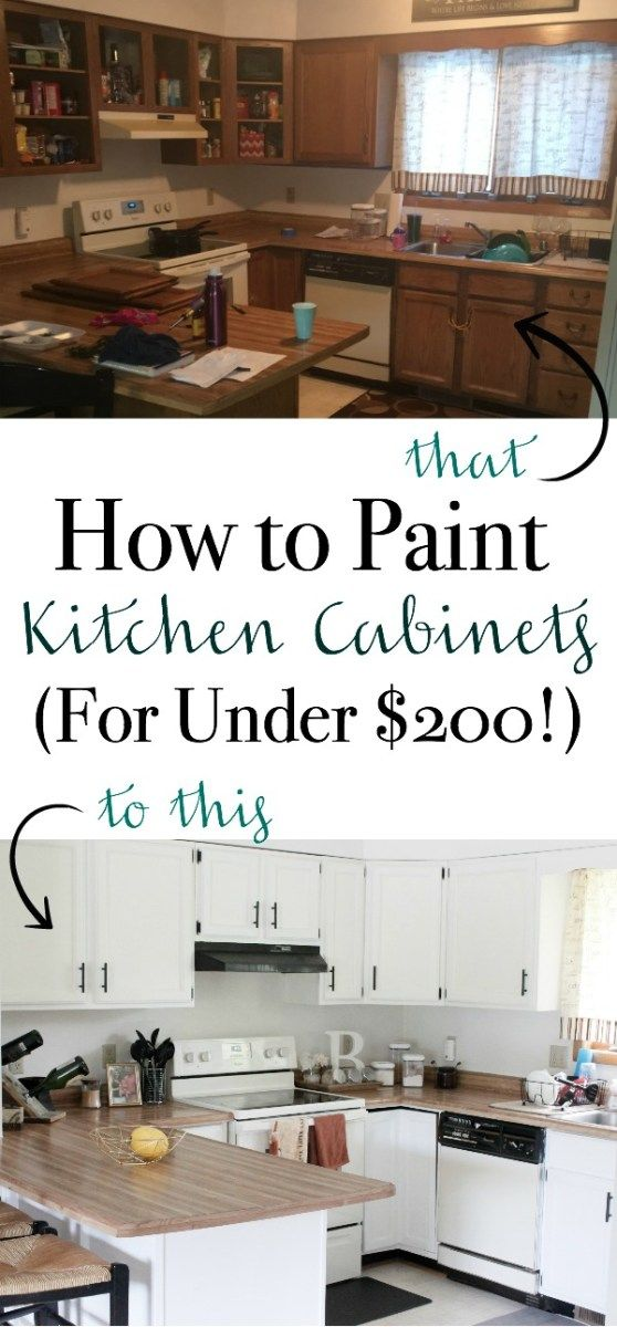 How to Paint Kitchen Cabinets (For Under $200 is part of Cabinet Organization How To Paint - If you're like me and don't want to do a complete kitchen remodel while spending loads of money on new cabinets, you're in the right place! This stepbystep tutorial will walk you through how to paint kitchen cabinets   the right way FOR UNDER $200!! Painting