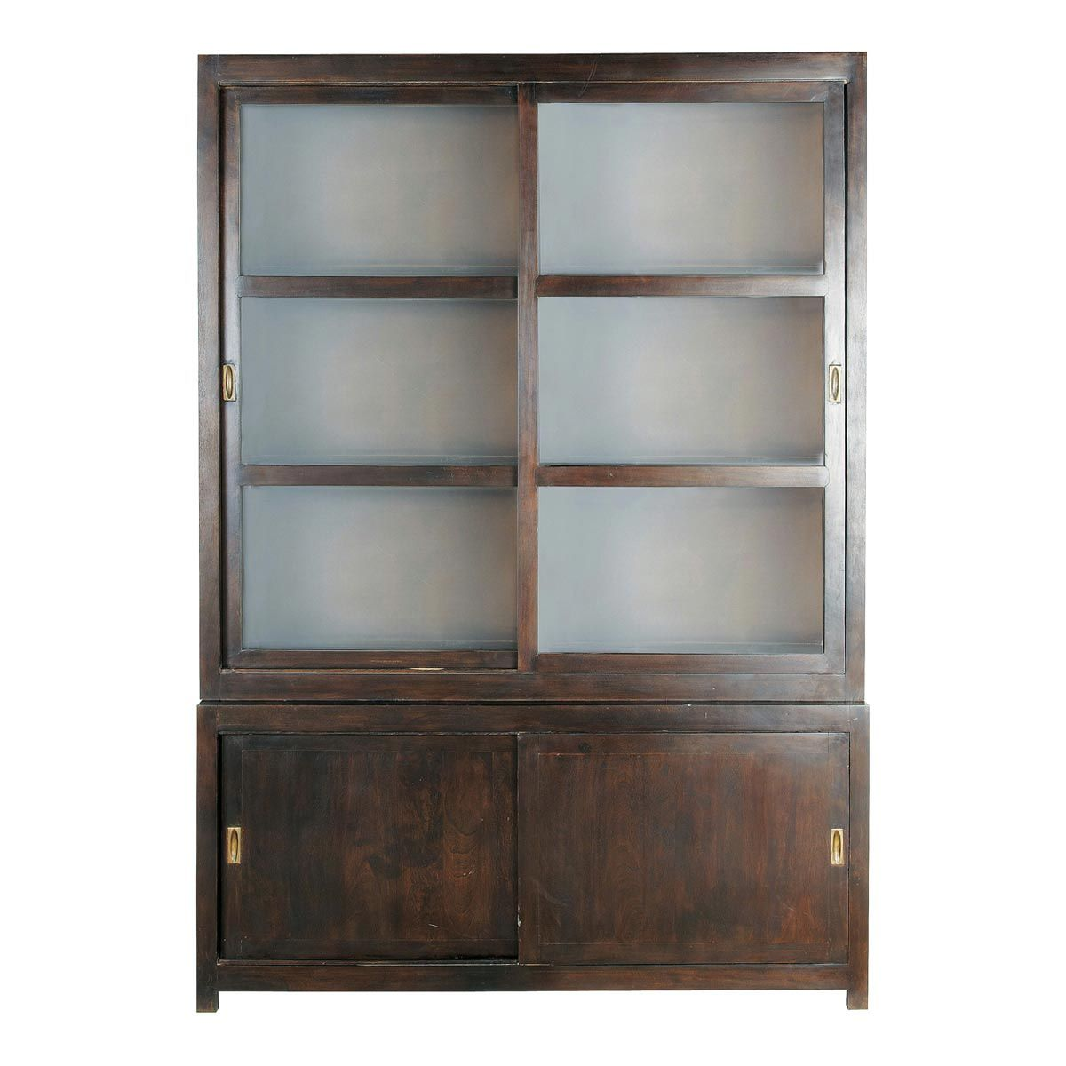 Delightful Stained Solid Mango China Cabinet W 160cm