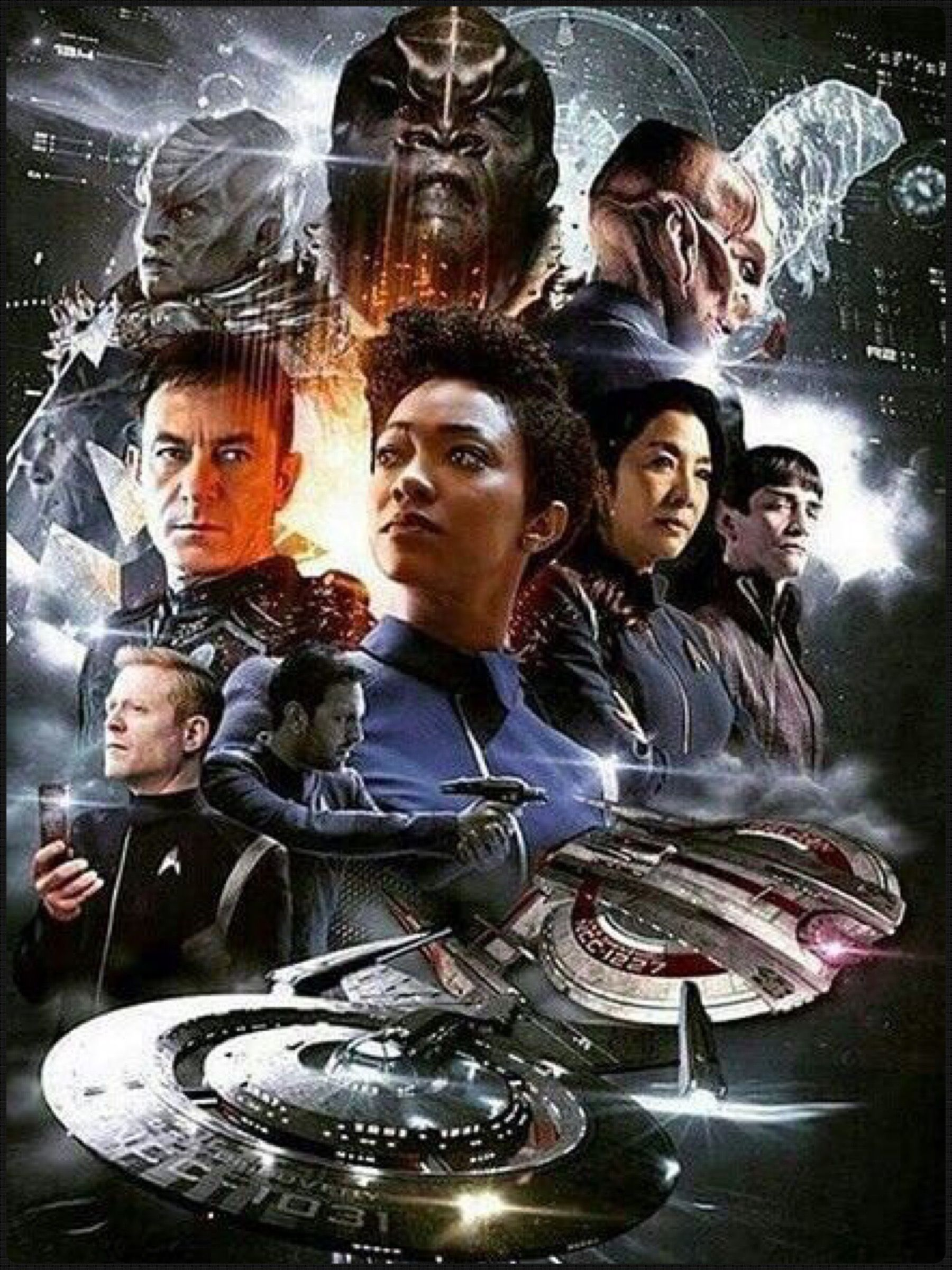 Star Trek Discovery Starring Sonequa Martin As First Officer Michael Burnham U S S Discovery Star Trek Posters Fandom Star Trek Star Trek Tv