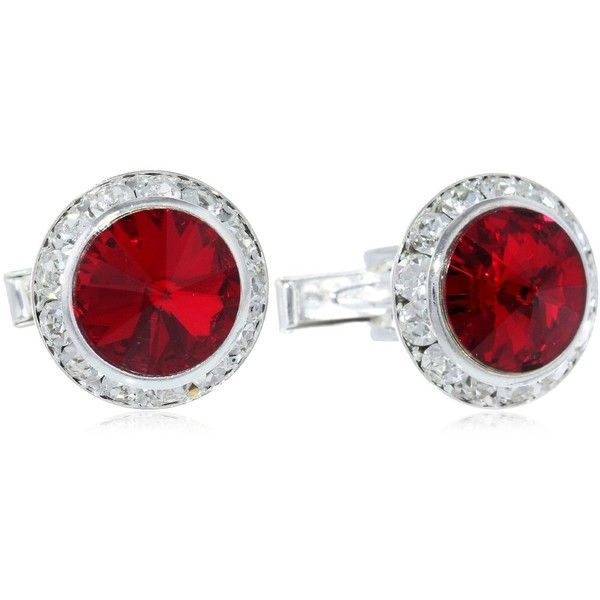 Amazon.com: Stacy Adams Men's Silver Crystal Rondell Cuff Link, Ruby,... ($25) ❤ liked on Polyvore featuring men's fashion, men's accessories, cuff links and mens cuff links