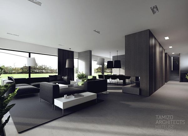 Black and gray house design
