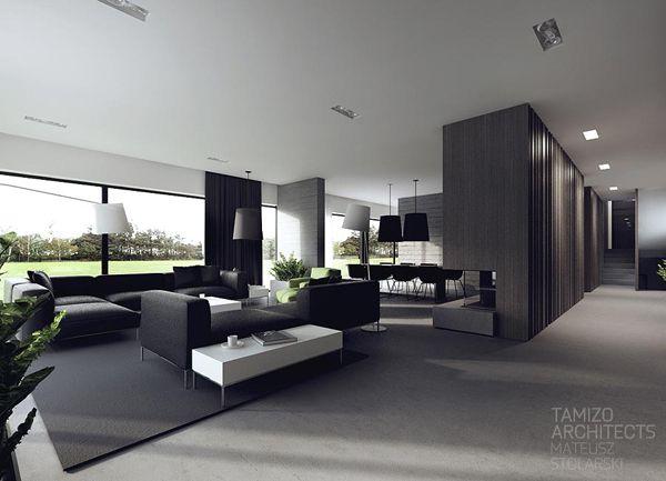 Pin od bejka na salon home interior design interior design i interior for Black and white interior design