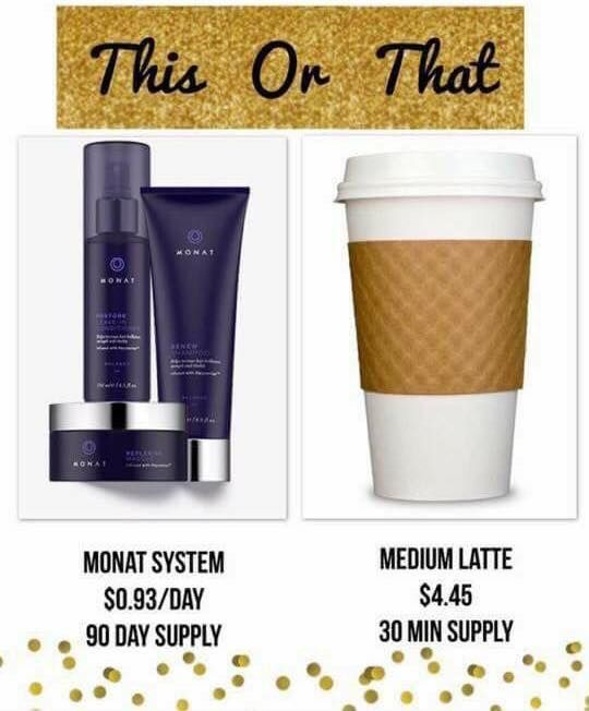 Monat Products Last 3 Months On Average That S 93 Cents A Day In The Us For A Full System Canadian That S 1 22 Per Day Personall Monat Monat Hair My Monat