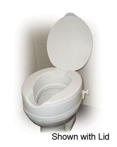 Raised Toilet Seat w/o Lid 4 Savannah-style Retail