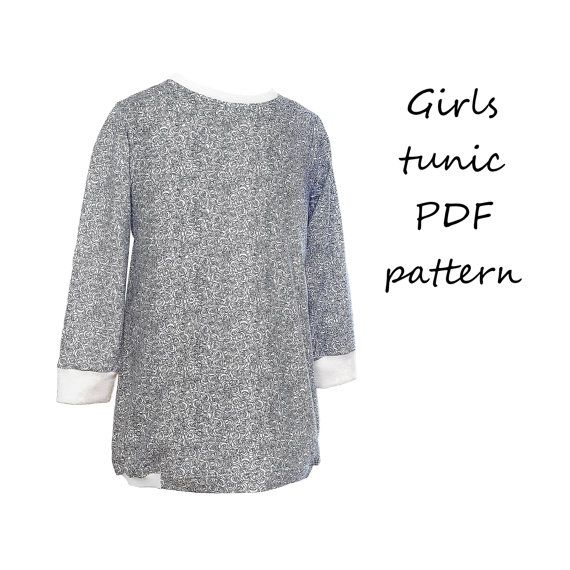 Girls tunic pattern pdf | Patrones de Costura / Sewing Patterns ...