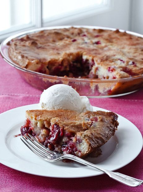 Barefoot Contessa's Easy Cranberry & Apple Cake. No pie crust, just a batter! ♥ NPR Books