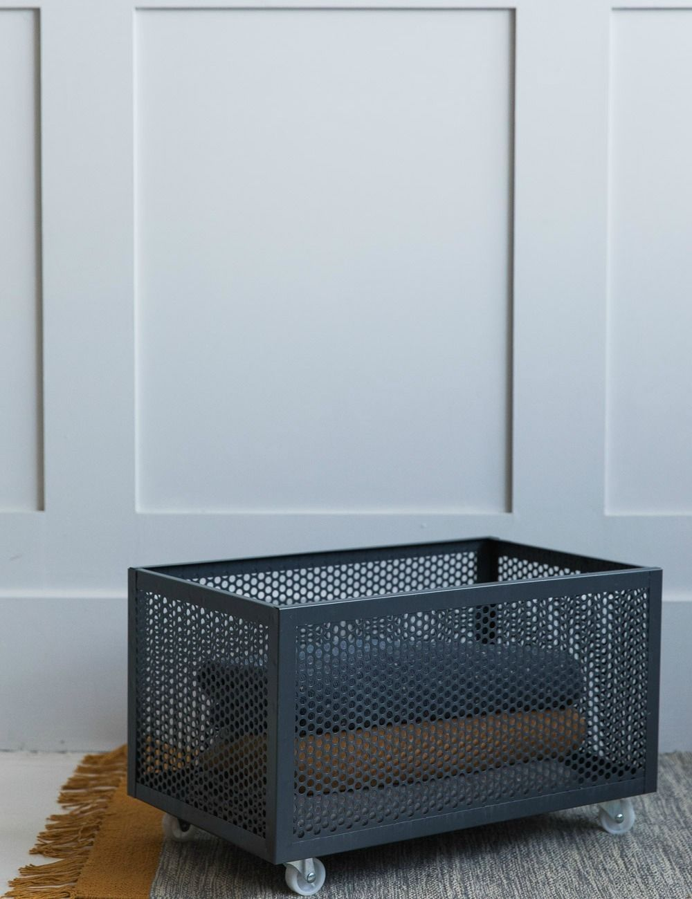Grey Metal Storage Box With Wheels Buy Online Now From Rose Grey Eclectic Home Accessories And Stylish In 2020 Metal Storage Box Retro Sideboard Headboard Storage