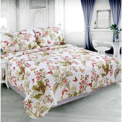 Ophelia Co Lurline Rich Printed Luxury Reversible Quilt Set