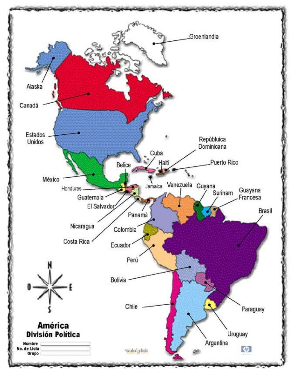 Continente Americano Thinglink Continente De America Paises