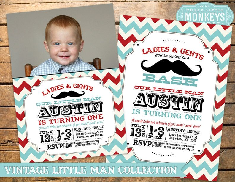 Vintage Little Man Mustache Bash, Moustache Bash or Barber Shop ...