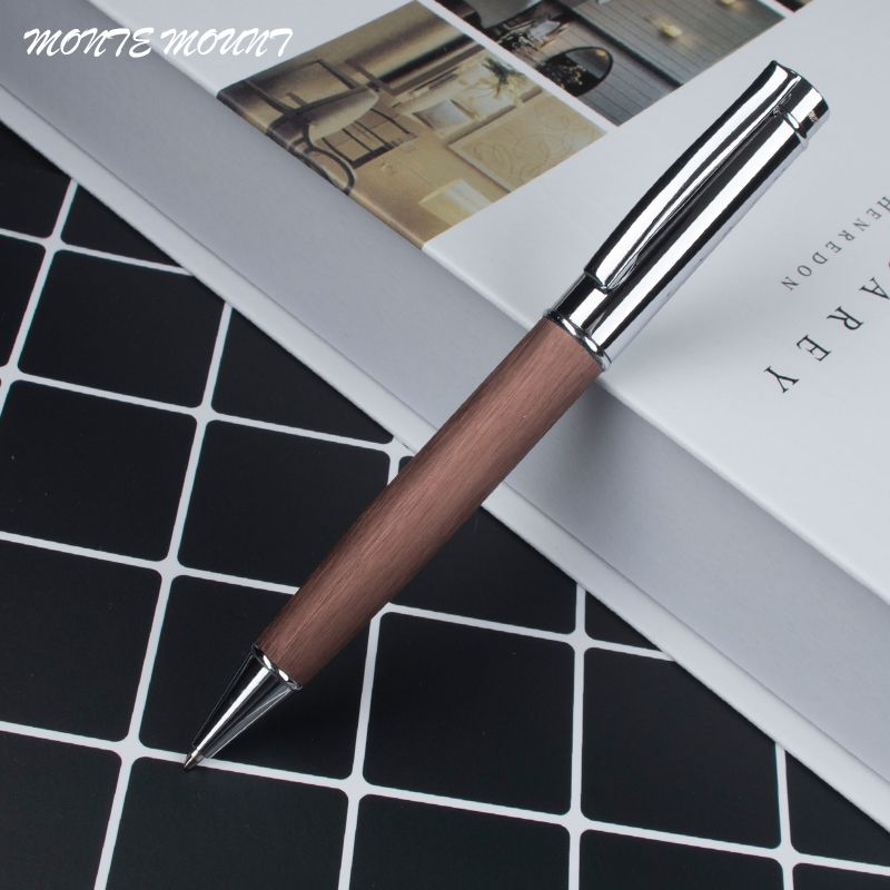 High Quality Luxury Office Stationery 0 7mm Black Refill Pens Without Pencil Box Coffee Mahogany Monte