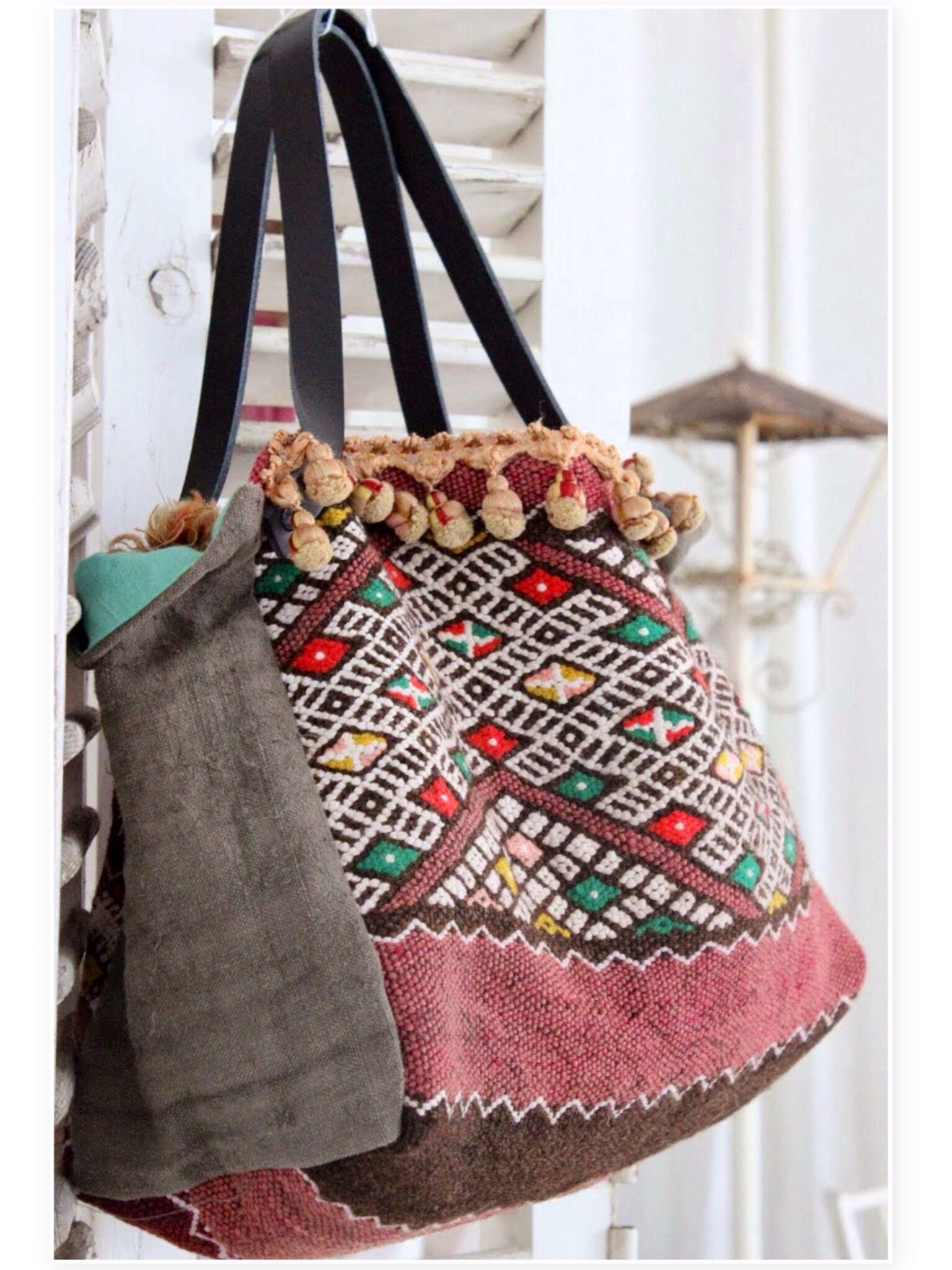 moroccan hand made bag carteras y bolsos pinterest verzierung diy tasche und boho. Black Bedroom Furniture Sets. Home Design Ideas