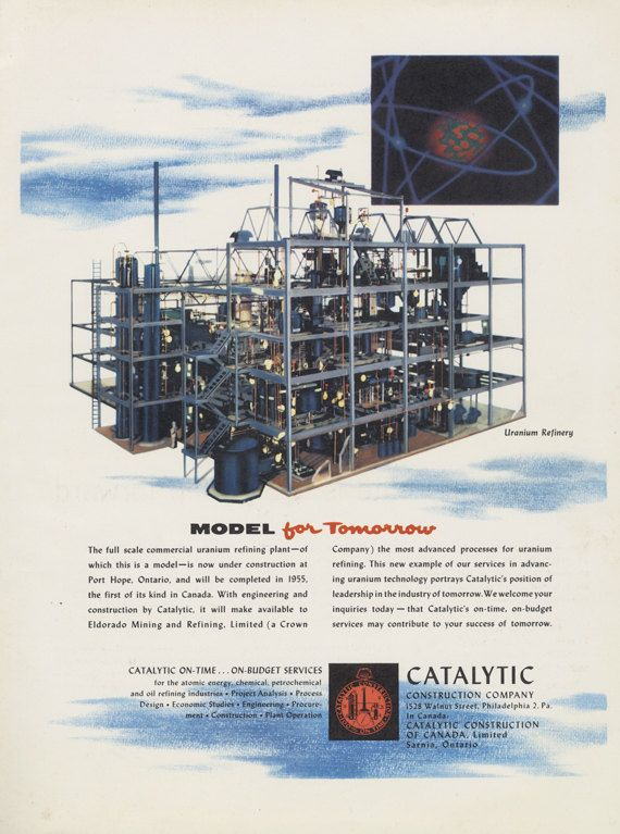 1955 Catalytic Construction Company Vintage Ad by