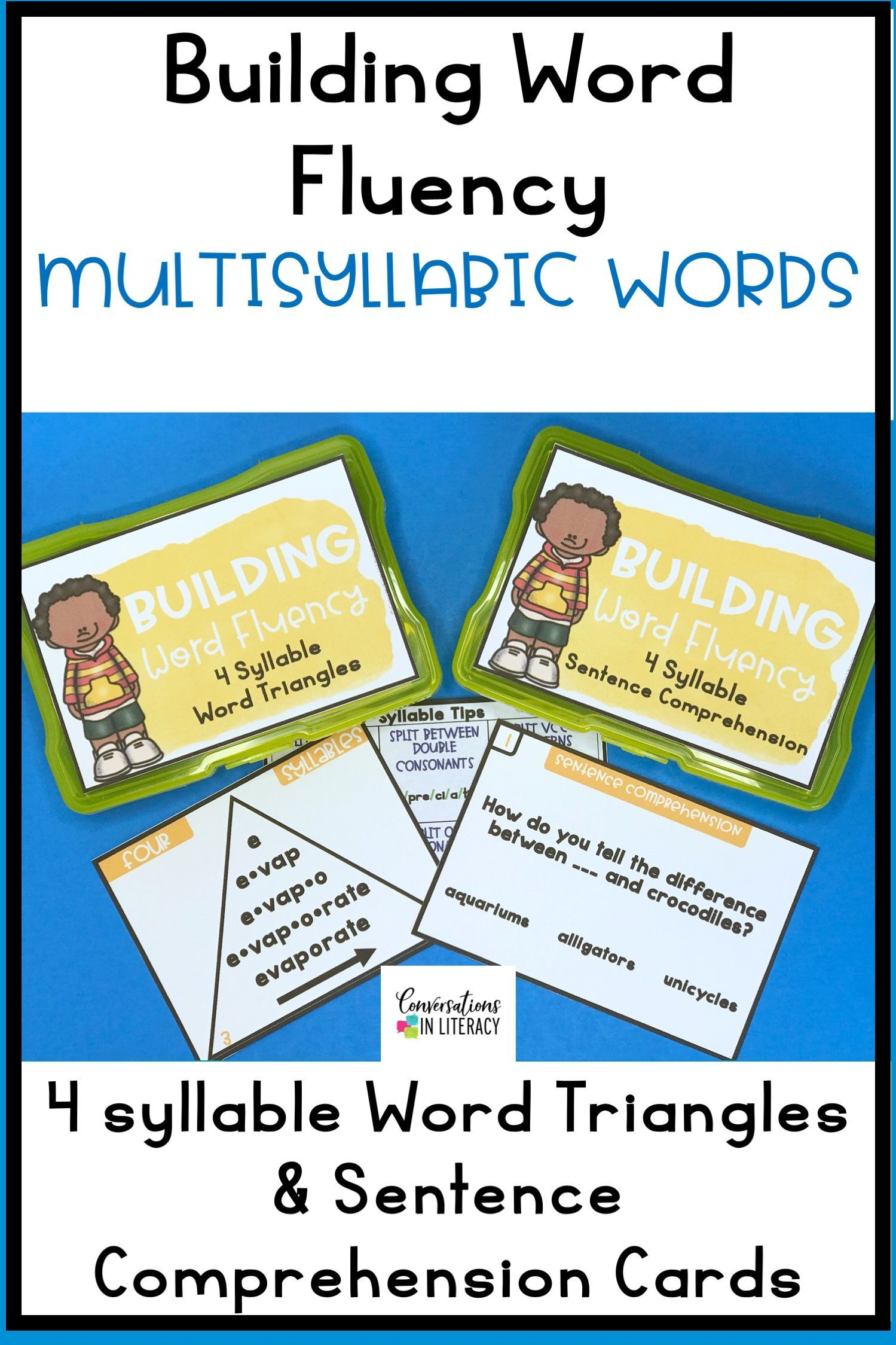 hight resolution of Decoding Multisyllabic Words (4 syllables) with Word Triangles and Sentence  …   Multisyllabic words