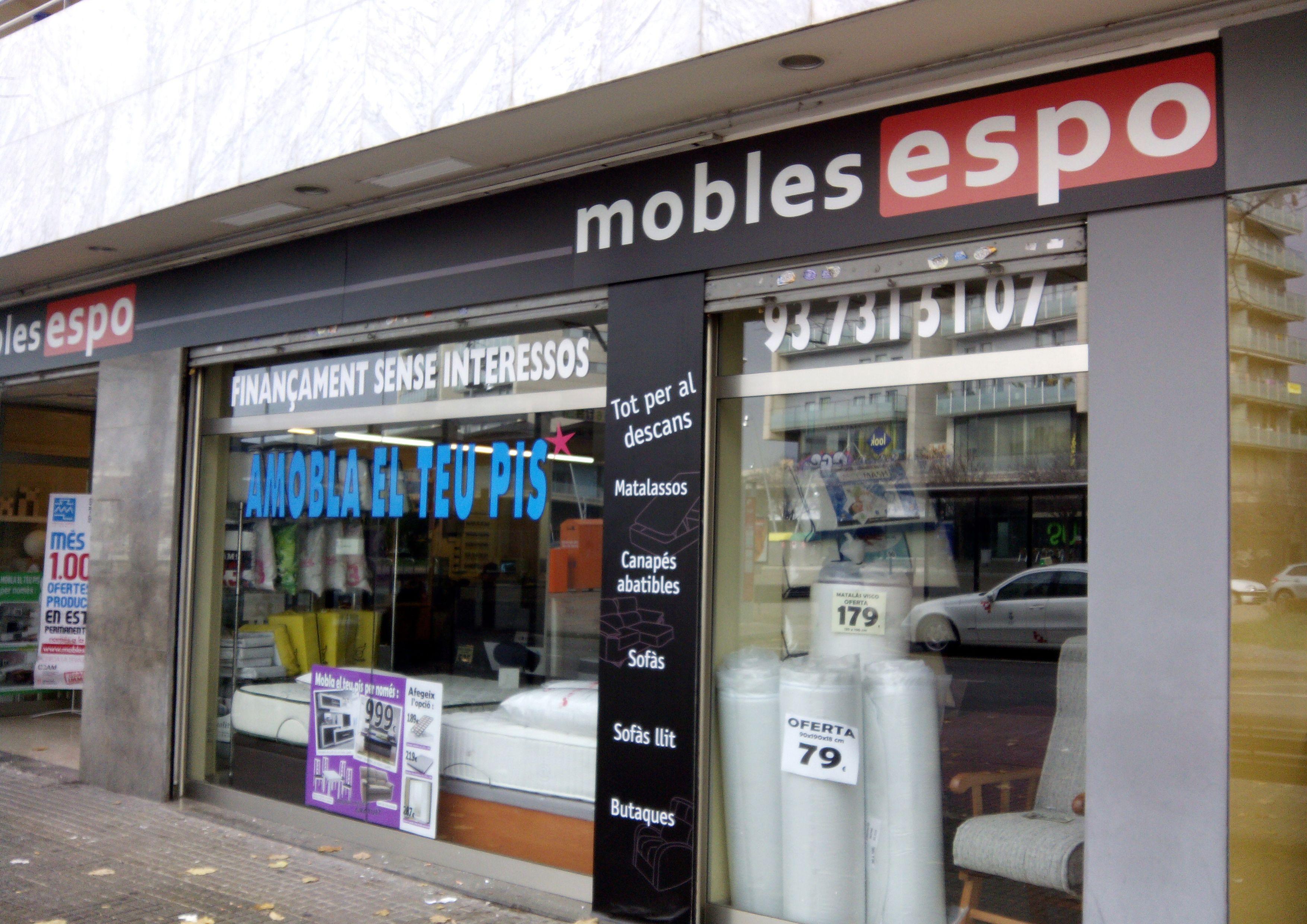 Rediseño de la fachada de Mobles Espo