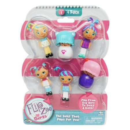 4 pack Flipzee Girls Collectibles, Blue | Dolls, Mini, Packing
