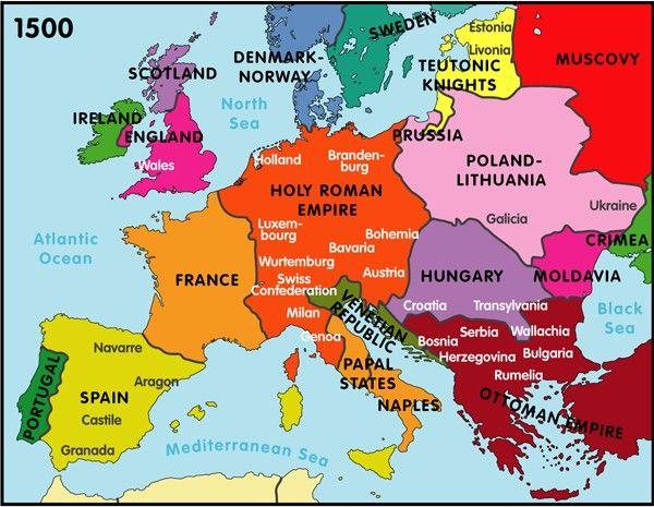 Europe 1500 Map