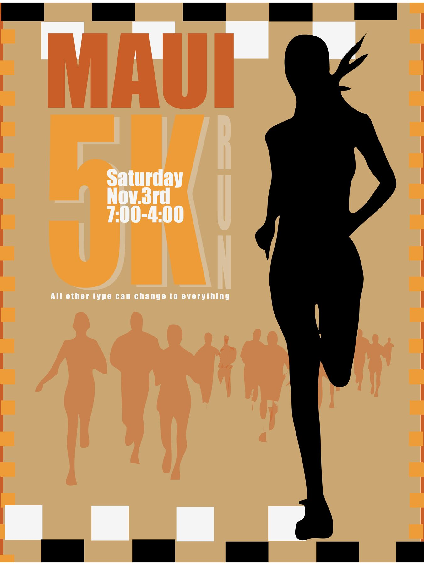 Maui 5k Run Poster Mofo Illustration Design