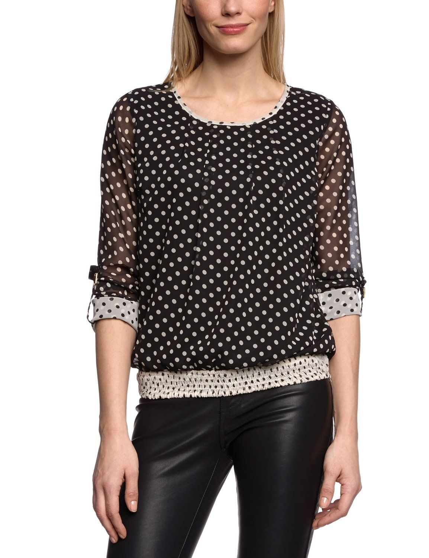 77e0132f4 Vero Moda - Camiseta con cuello redondo de manga larga para mujer   Amazon.es  Ropa y accesorios