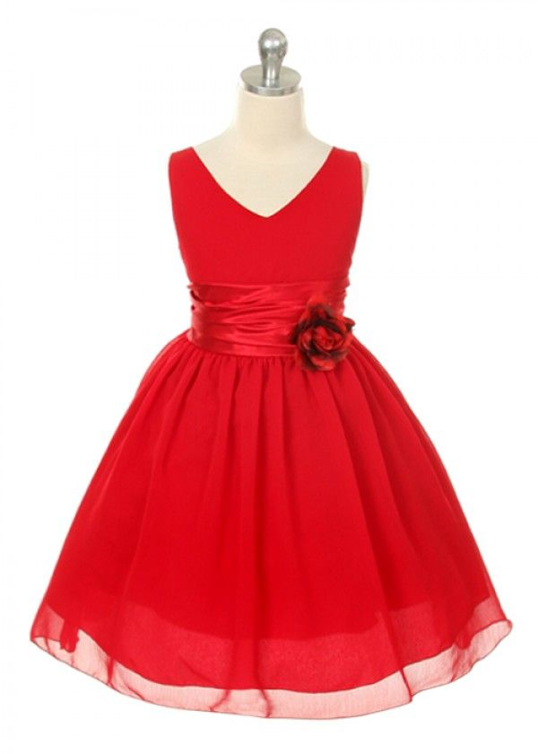 Red Chiffon Flower Girl Dress also in purple or yellow | My Future ...