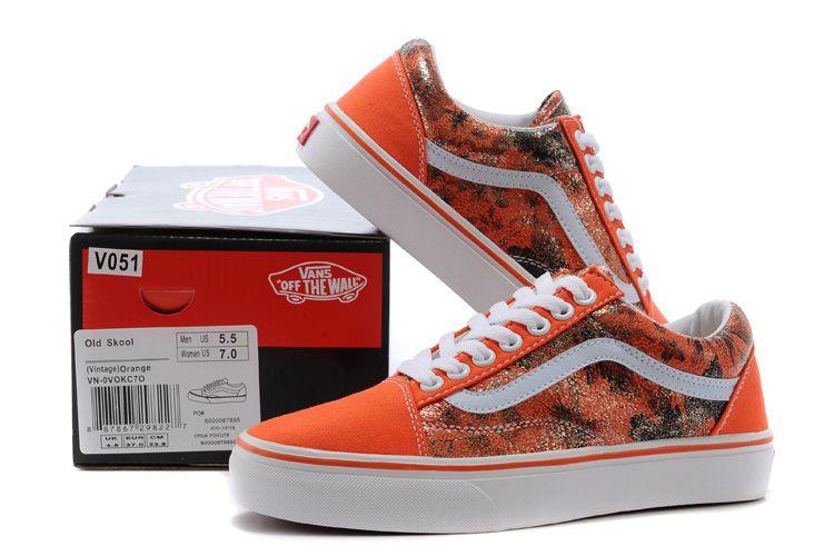 Vans Seattle - Valentine  s Day Orange Low Low V051 35-3910  Vans ... 4a9af456c983