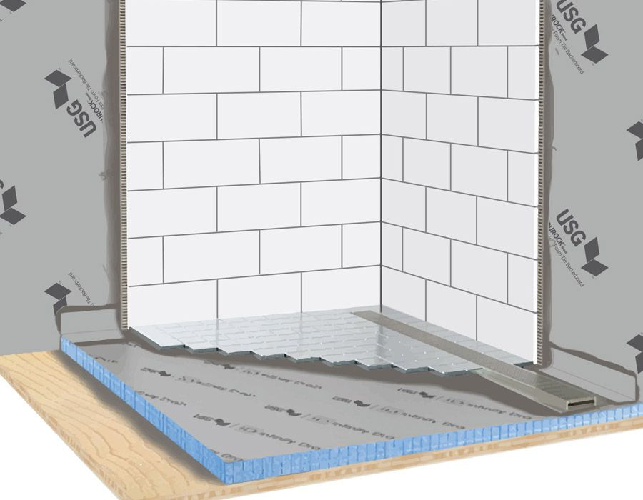 Why Choose The Usg Durock Brand Infinity Drain Shower System