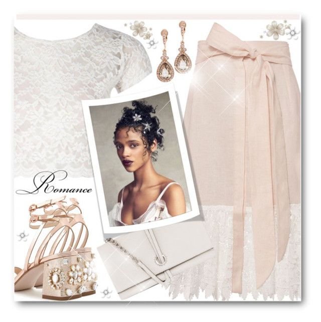 """""""Romance"""" by brendariley-1 ❤ liked on Polyvore featuring Miguelina, Boohoo, Miss Selfridge, Oroton and Givenchy"""