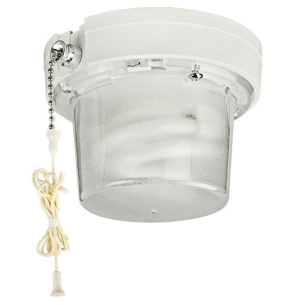Leviton Pull Chain Socket 13W  Compact Fluorescent Lampholder With Pull Chain Switch Image