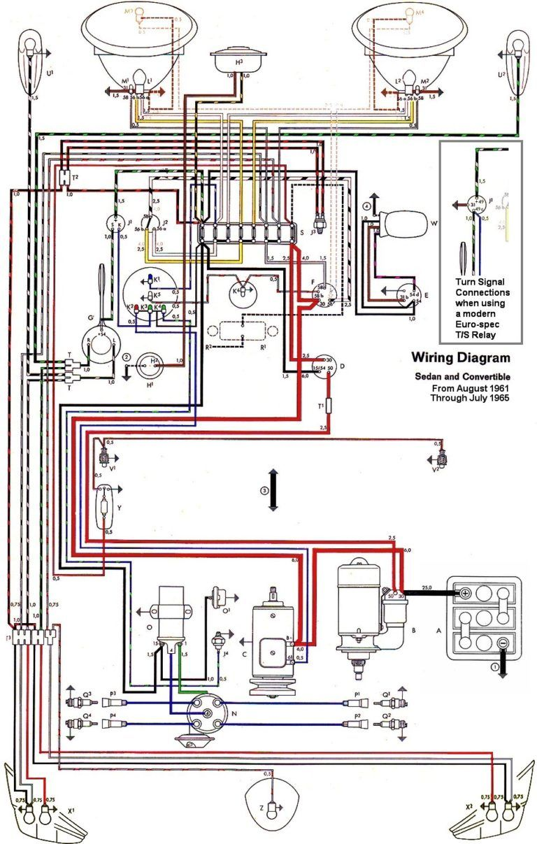 1966 1967 1968 1969 Vw Karmann Ghia Wiring Diagram Extraordinary Throughout Vw Beetle Vw Super Beetle Electrical Wiring Vw Beetles