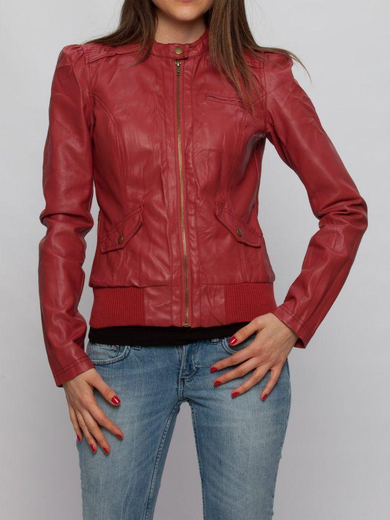 Lc Waikiki Bayan Deri Mont Ve Ceket Modelleri Kombinleri Leather Jacket Red Leather Jacket Fashion