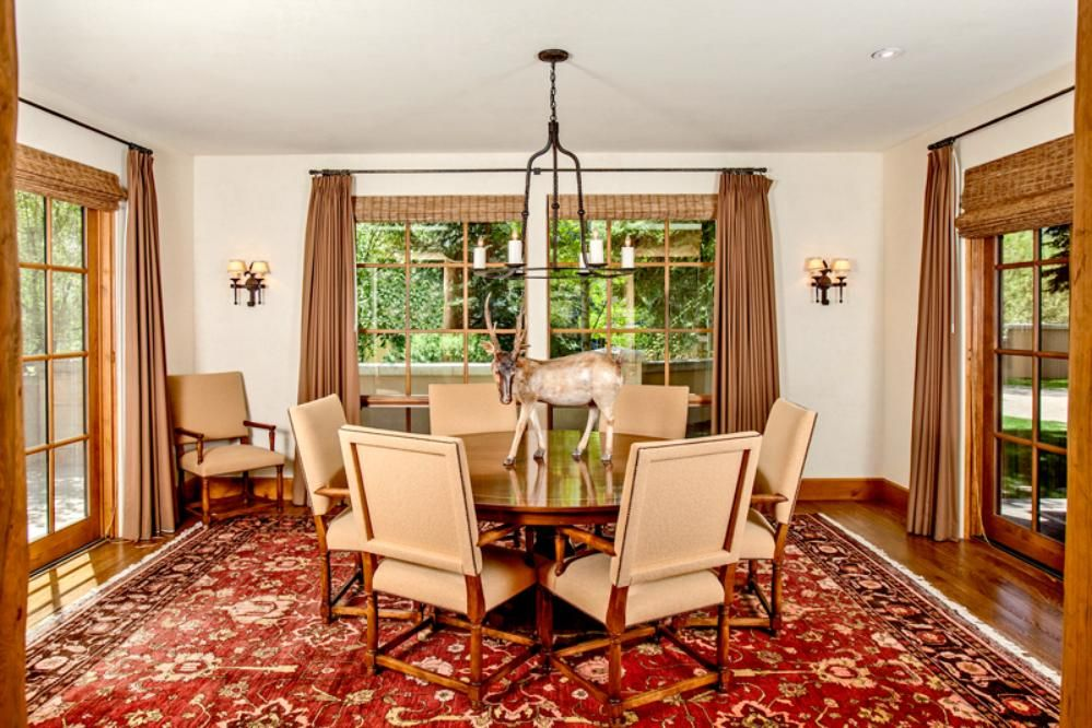 Views From All Sides In A Colorful Sun Valley Dining Area