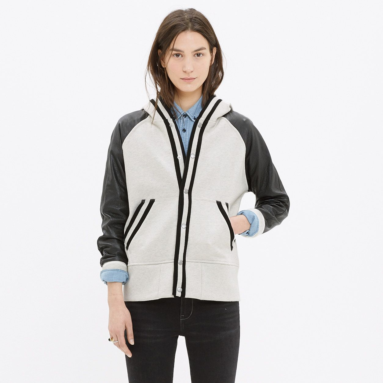 LeatherSleeve Tournament Jacket jackets Madewell