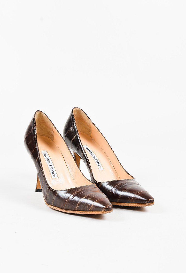 Cheapest for sale cheap online Manolo Blahnik Eelskin Buckle Sandals latest collections cheap visa payment sale 100% original LPqHz