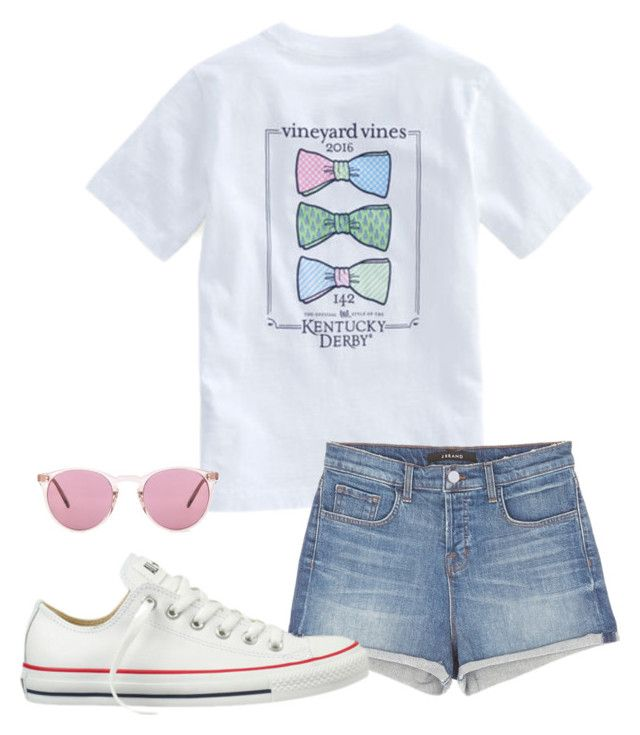 Out of School//Hailey by southern-slayers on Polyvore featuring J Brand, Converse, Oliver Peoples and Vineyard Vines