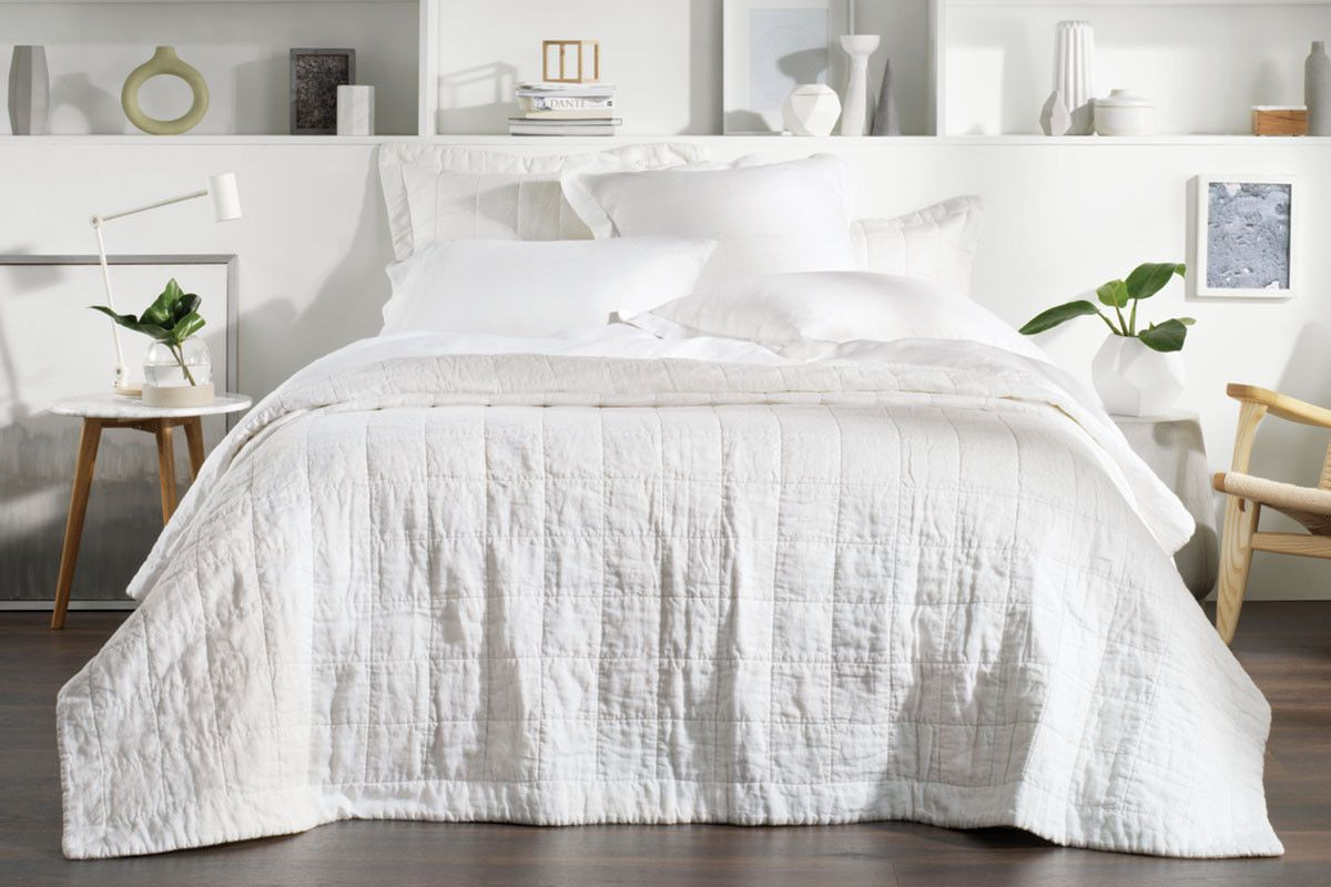Sheridan Abbotson Linen Bed Cover Bed Covers Beige Bed