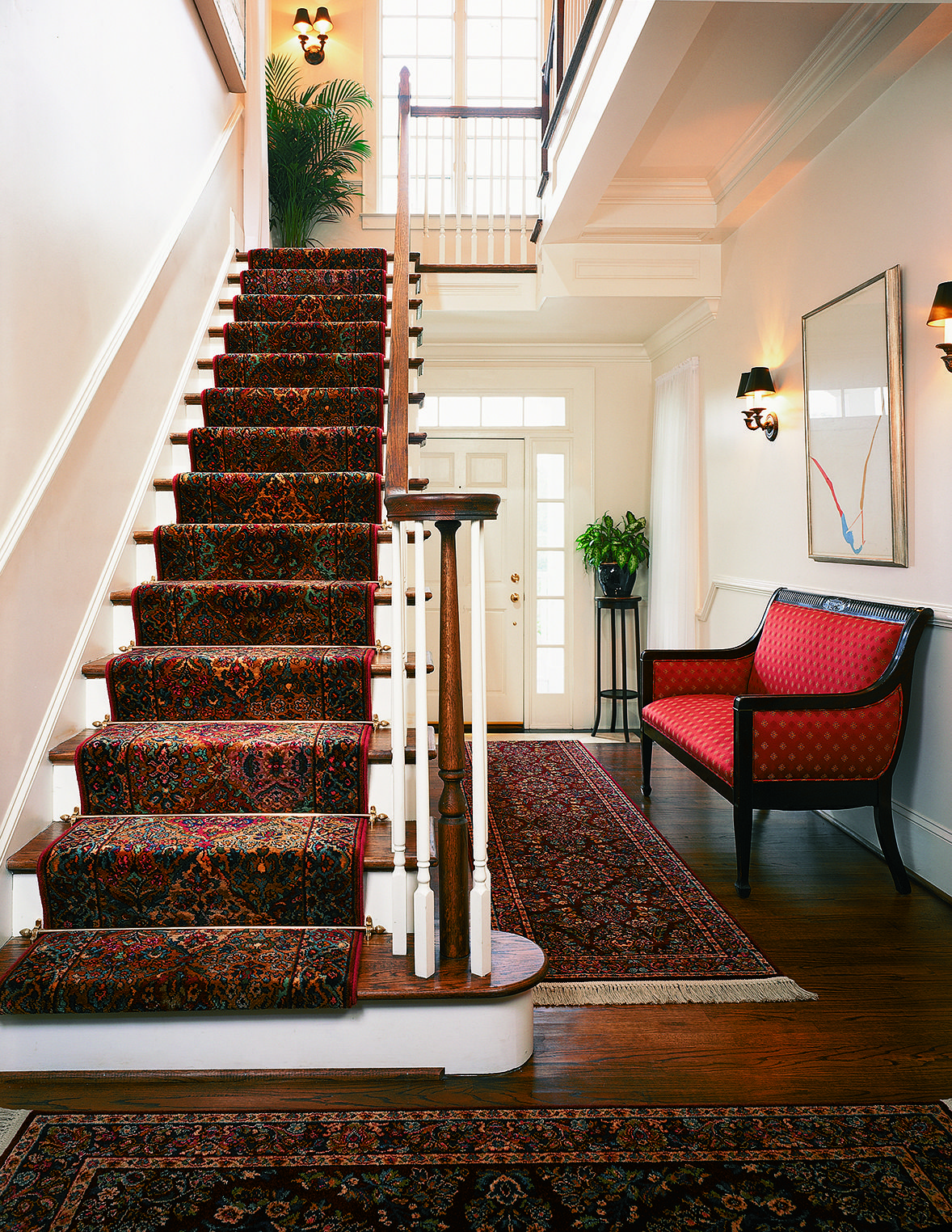 Traditional Kirman stair runner and hallway #rug from ...