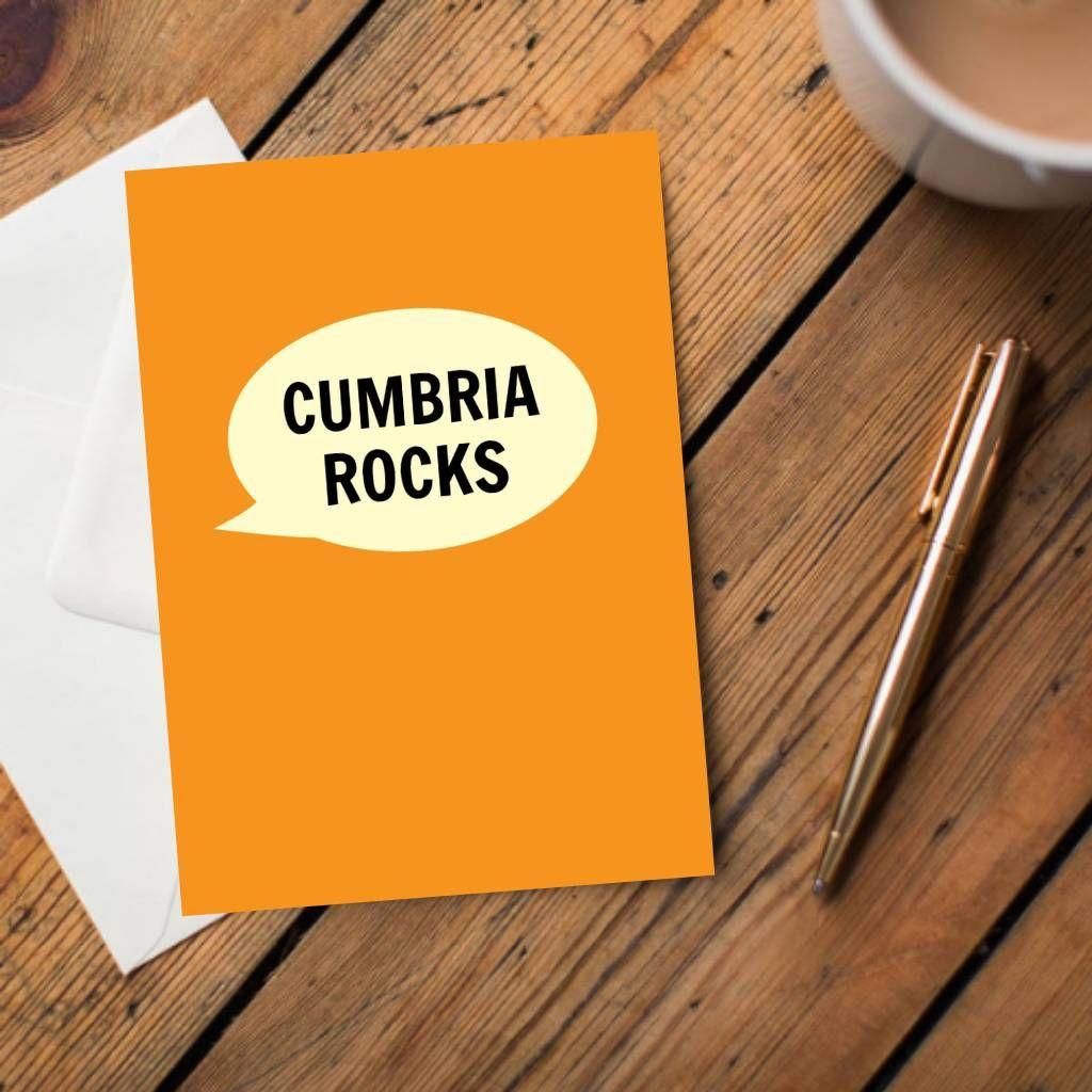 Cumbria Rocks Card Cumbria Cards Cool Cards