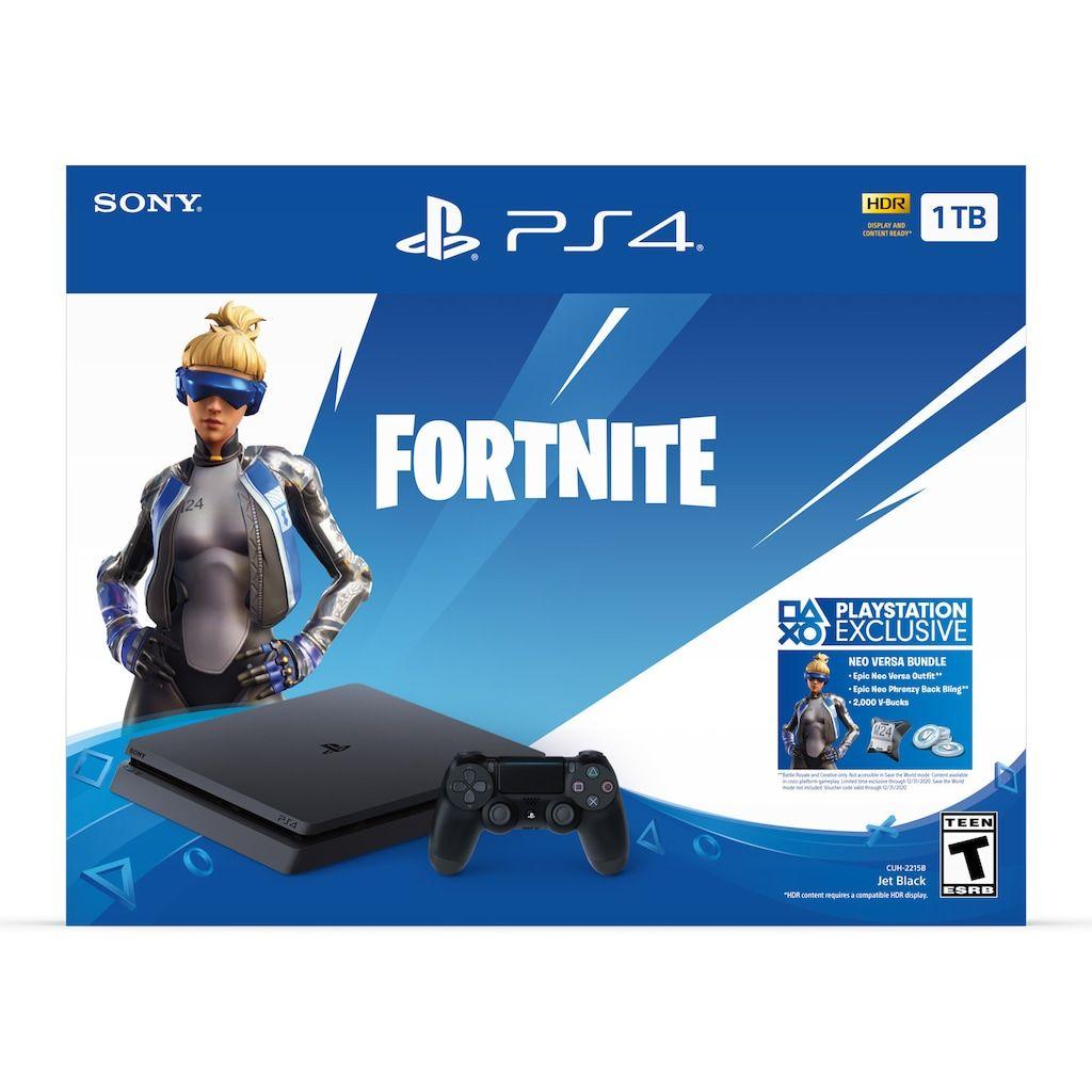 Playstation 4 Slim 1tb Fortnite Neo Versa Bundle Playstation Playstation Slim Playstation 4 Bundle