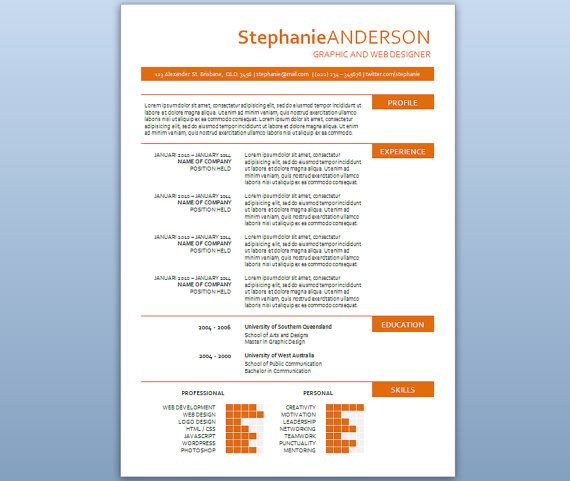 Modern Microsoft Word Resume Template Stephanie by Inkpower - microsoft word templates for resumes