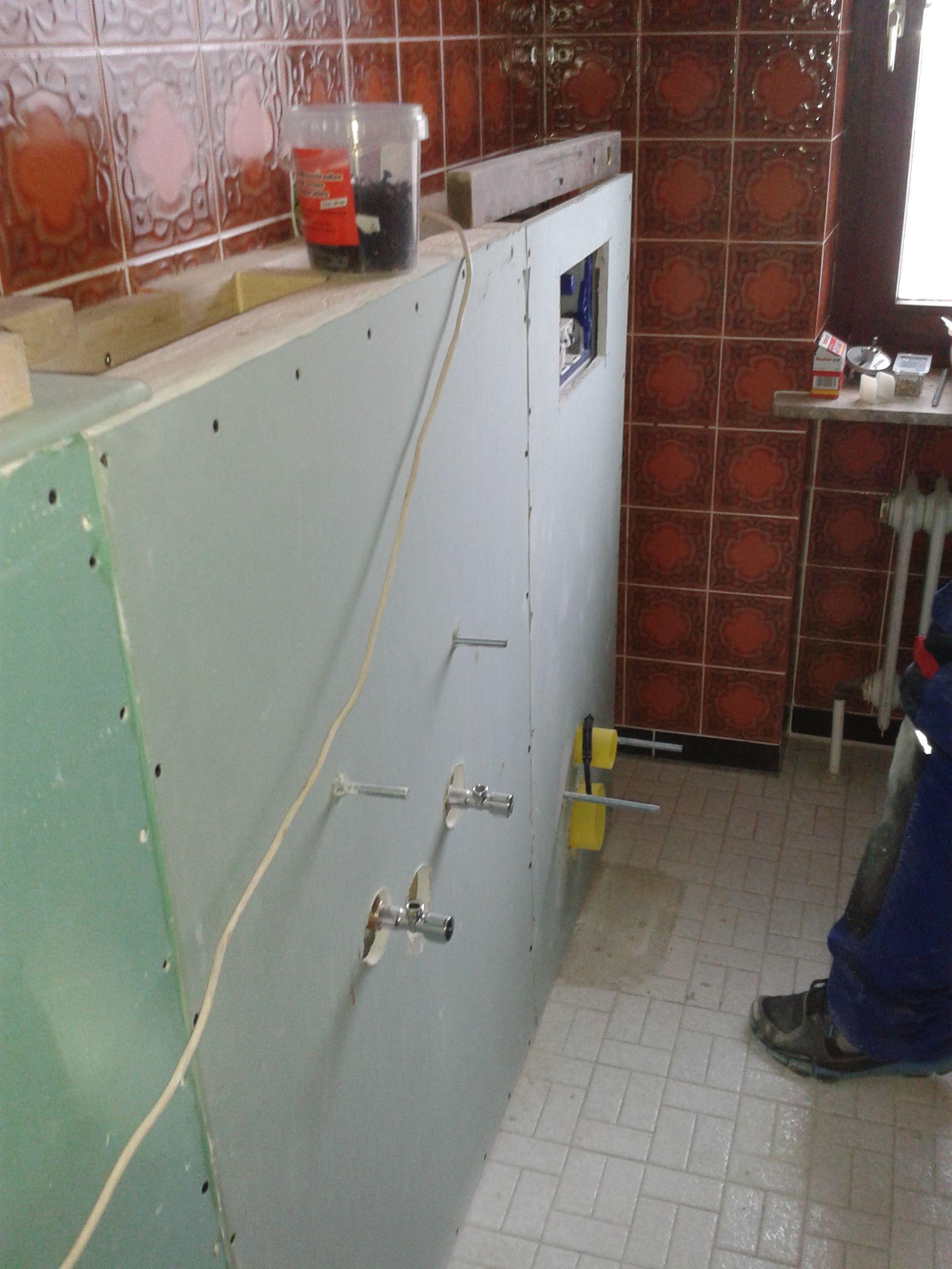 Wie Verkleide Ich Eine Vorwandinstallation Bad Sanieren Renovieren Kleines Bad Umbau