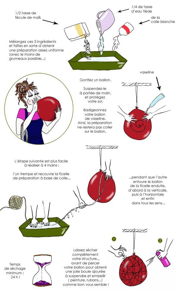 En dessin  fabriquez une suspension déco faite d\u0027une simple ficelle