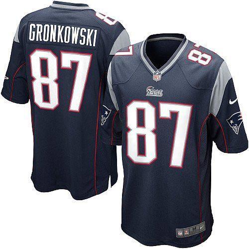 Men S Blue Nike Game New England Patriots 87 Rob Gronkowski Team Color Nfl Jersey Gronkowski Jersey New England Patriots Game Jersey Patriots