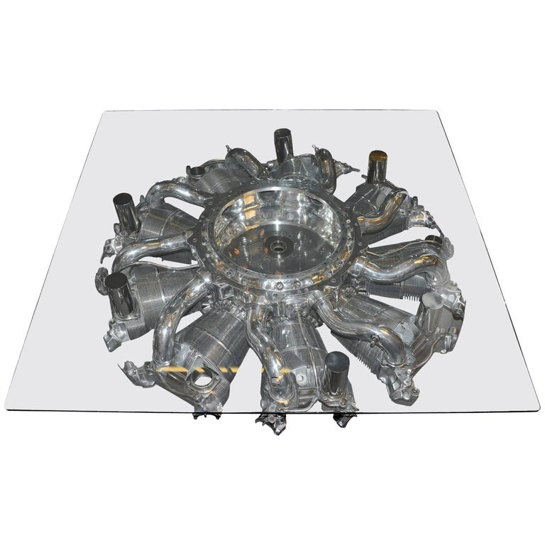1stdibs Coffee Table Engine From Dc4 Aircraft American ...