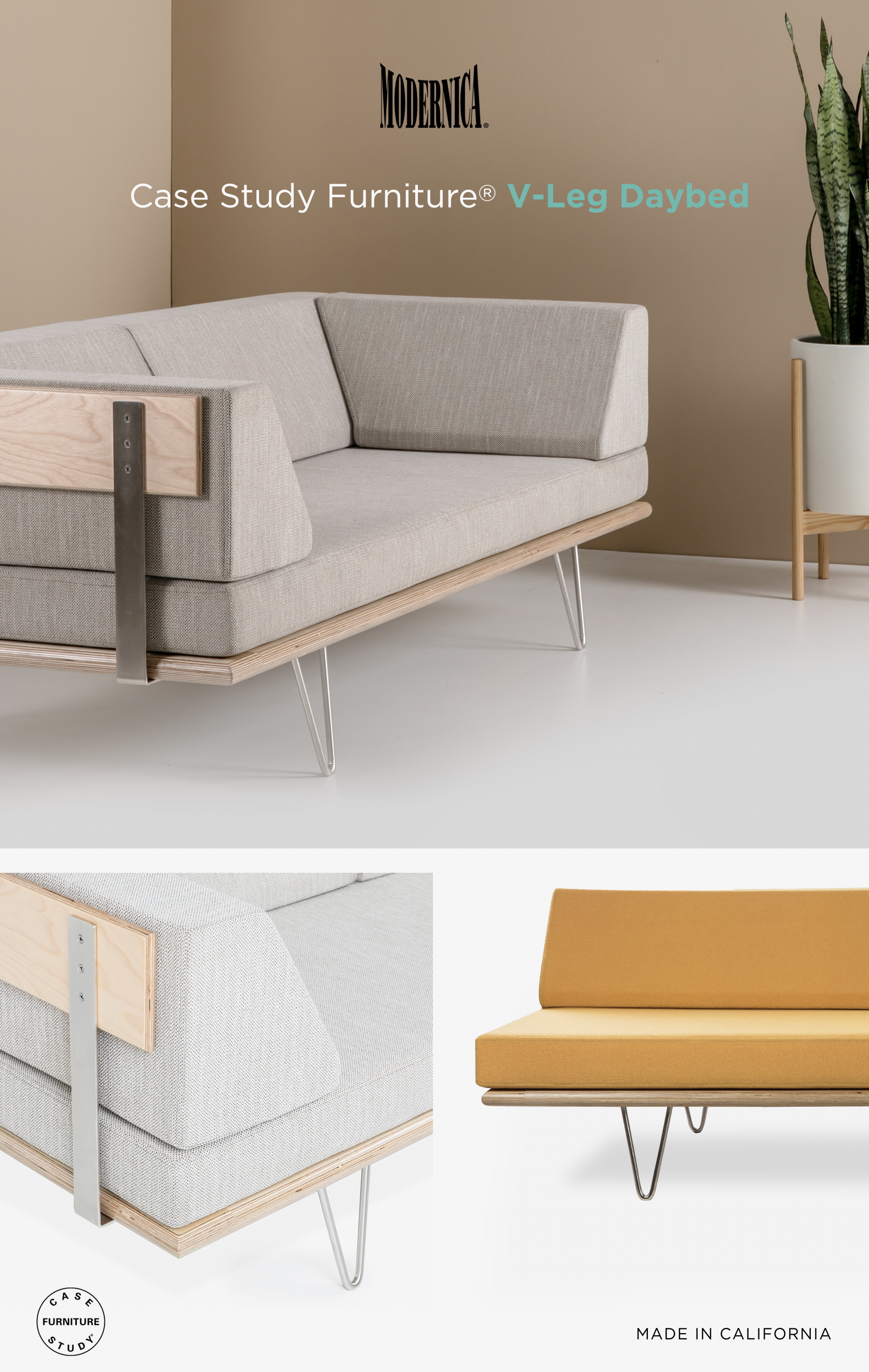 - Case Study Furniture® V-Leg Daybed Couch Case Study Daybed, Case