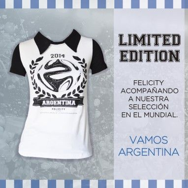 Remera Mundial - Limited Edition Pasión + Glamour! #fashion #mundial2014 By Felicity Urban