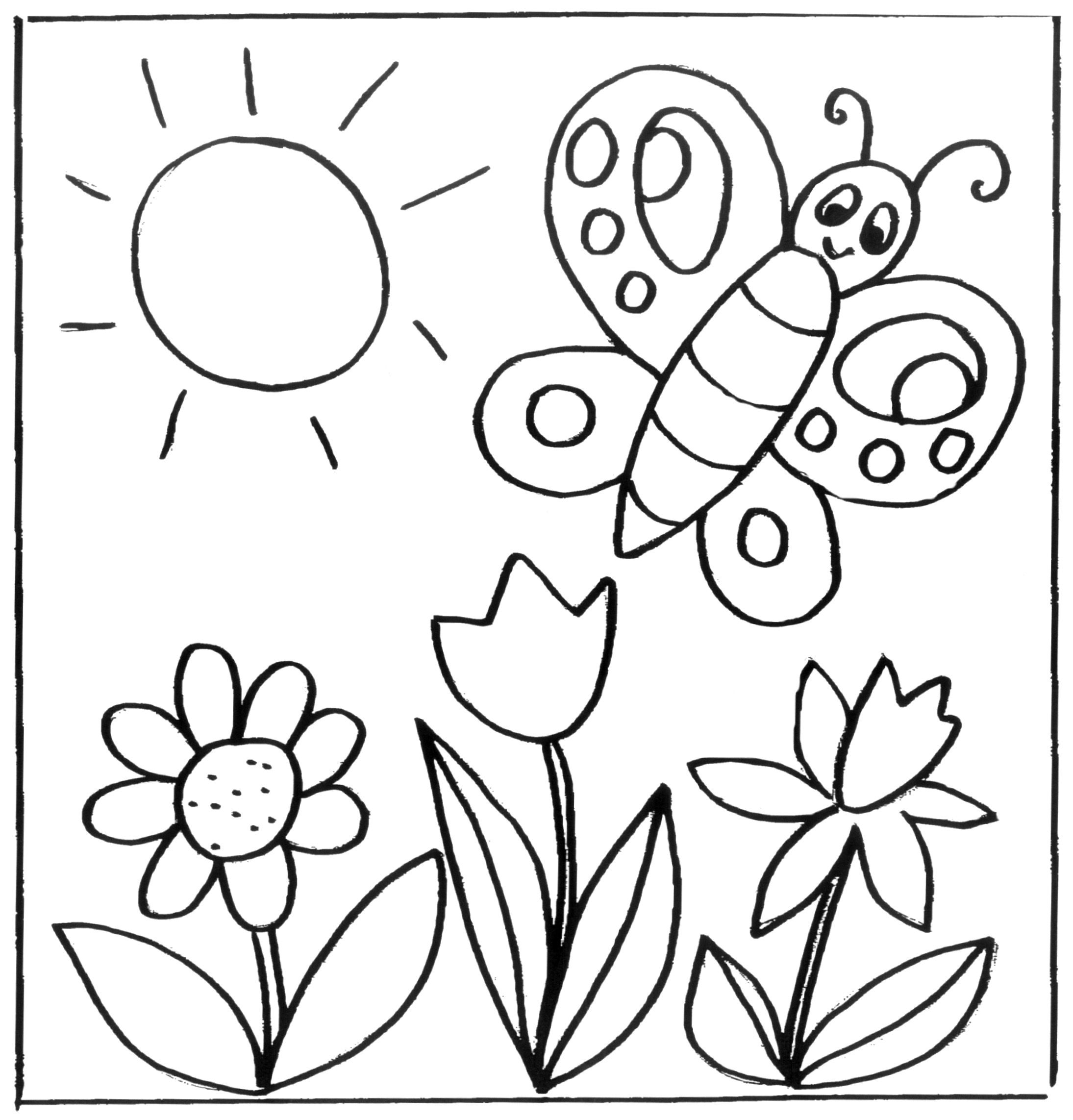Kinder Ausmalbilder Blumen In 2020 Blumen Ausmalbilder Ausmalbilder Krippe Fruhling