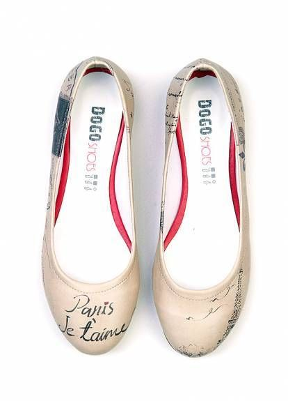 Dogo shoes Paris Je Taime Flats  shoes  flats  love  paris  je taime ... 0ec1b3778ac